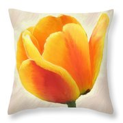 Tulip Orange Throw Pillow