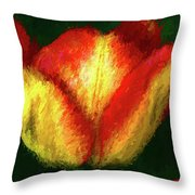Tulip Painting Throw Pillow