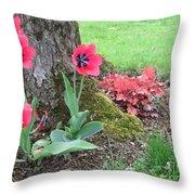 Tulip Poppie Throw Pillow