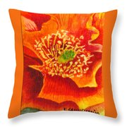 Tulip Prickly Pear Throw Pillow