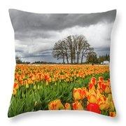 Tulip Rows Throw Pillow