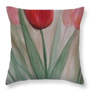 Tulip Series 4 Throw Pillow
