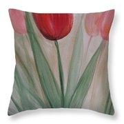 Tulip Series 4 Throw Pillow