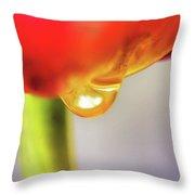 Tulip Tears Throw Pillow