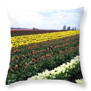 Tulip Town 11 Throw Pillow