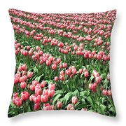 Tulip Town 14 Throw Pillow