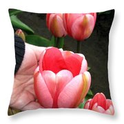 Tulip Town 15 Throw Pillow