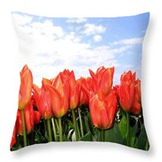 Tulip Town 17 Throw Pillow