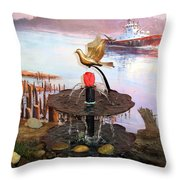 Tulip Town 20 Throw Pillow