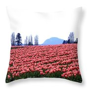 Tulip Town 3 Throw Pillow