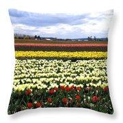 Tulip Town 4 Throw Pillow