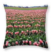 Tulip Town 5 Throw Pillow