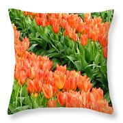 Tulip Town 7 Throw Pillow