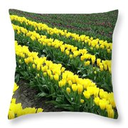 Tulip Town 9 Throw Pillow