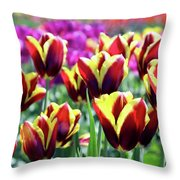 Tulip Treasures Throw Pillow