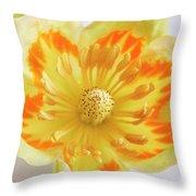 Tulip Tree Flower Throw Pillow