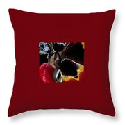 Tulip Water Color Throw Pillow