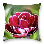 Tulip Whirl Throw Pillow