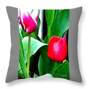 Tulips 2 Throw Pillow