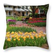 Tulips Abound Throw Pillow