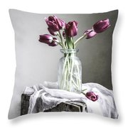 Tulips And Light Throw Pillow