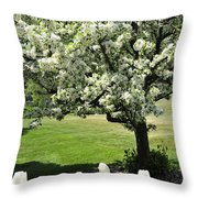 Tulips And Tees Throw Pillow