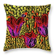 Tulips Are Tulips Throw Pillow