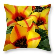 Tulips By The Artist Throw Pillow