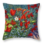 Tulips By The Gate Throw Pillow
