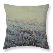 Tulips Dance Abstract 3 Throw Pillow