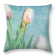 Tulips Day Throw Pillow