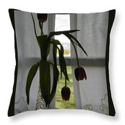 Tulips Throw Pillow by Don Perino