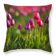 Tulips Dream Throw Pillow