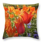 Tulips Everywhere 3 Throw Pillow