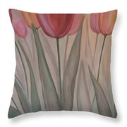 Tulips For Carol Throw Pillow