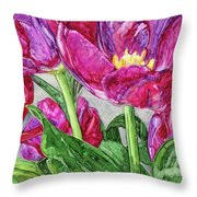 Tulips From A Friend Throw Pillow