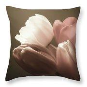 Tulips Glow Throw Pillow