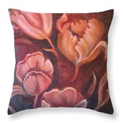 Tulips In Blush Throw Pillow