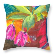 Tulips In Can Throw Pillow