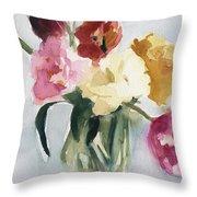 Tulips In My Studio Throw Pillow