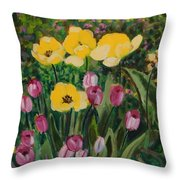 Tulips In The Capitol 2 Throw Pillow