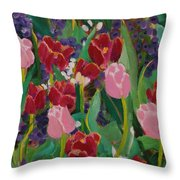 Tulips In The Capitol Throw Pillow