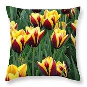 Tulips In The Garden Throw Pillow