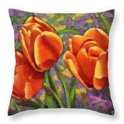 Tulips In The Sun Throw Pillow