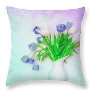 Tulips In Winter Throw Pillow