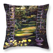 Tulips Of Gold Throw Pillow