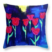 Tulips Of My Heart Throw Pillow