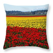 Tulips Of The Skagit Valley Throw Pillow