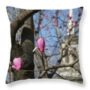 Tulips On Trees  Throw Pillow