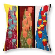 Tulips Tulips Tulips Tulips Tulips Throw Pillow